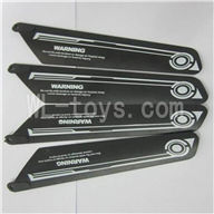 Skytech M23 RC Helicopter Parts-03 Main blades(4pcs-2A+2B)