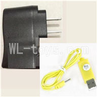 Skytech M33 RC Helicopter Parts ,Skytech M33A Parts-23 Straight conversion plug & USB Charger