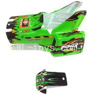 WLtoys L959 Parts-Car Canopy,Car shell-Green,WLtoys L959 RC Car Parts,1/12 RC Racing car buggy spare parts