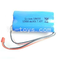WLtoys L959 Parts-Lipo Batteries,7.4V 1500mAh Battery Packs with Red JST Plug (Be used for L959),WLtoys L959 RC Car Parts,1/12 RC Racing car buggy spare parts