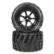 WLtoys L969 L212 parts-RC Buggy Rear Tire(2pcs)