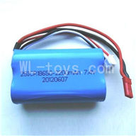 WLtoys L969 parts-Upgrade 2200mAh Battery Packs.-7.4v-Red-JST-Plug-Battery(Can only be used for L959)