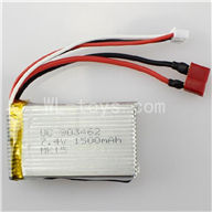 WLtoys L212 parts-7.4v 1500mah battery with T shape Plug(Can be Used for  L212)