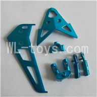Skytech M10 M10G M10GR RC Helicopter Parts-26 Horizontal and verticall wing with fixtures