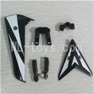 Skytech M13 RC Helicopter Parts-26 Horizontal and verticall wing with fixtures