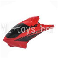 Skytech M3 M3A RC Helicopter Parts-01 Head cover-Red