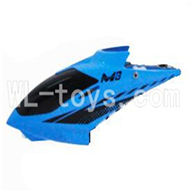 Skytech M3 M3A RC Helicopter Parts-02 Head cover-Blue