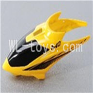 Skytech M3 M3A RC Helicopter Parts-03 Head cover-Yellow