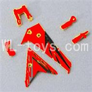 Skytech M3 M3A RC Helicopter Parts-27 Horizontal and verticall wing with fixtures-Red