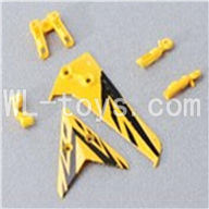 Skytech M3 M3A RC Helicopter Parts-28 Horizontal and verticall wing with fixtures-Yellow