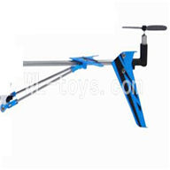 Skytech M3 M3A RC Helicopter Parts-31 Tail unit-Blue(Long tail pipe & Horizontal and verticall wing with fixtures & Tail cover with tail blade and tail motor & Support pipe)