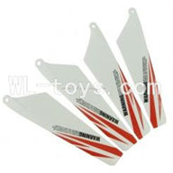 Skytech M5 M5A RC Helicopter Parts-05 Main blades(4pcs-2A+2B)-Red