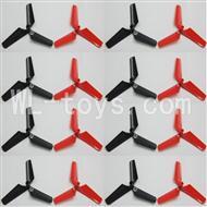 Skytech M60 RC Quadcopter Parts-03 Main rotor blades(16pcs-8X Black & 8X Red)