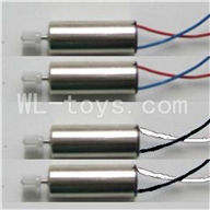 Skytech M60 RC Quadcopter Parts-18 Main Motor A with white and black wire(2pcs) Main motor B with Red and Blue wire(2pcs)