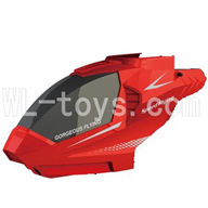 Skytech M25 M35 RC Helicopter parts ,Skytech M25 parts-02 Head cover-Red