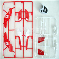 Skytech M37 RC Helicopter Parts-07 DIY Outter parts unit-Red & Shell-White