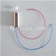 SYMA S026G RC helicopter parts-18 Main motor with short shaft and gear(1pcs-Red and blue wire)