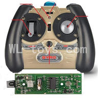 SYMA S026G RC helicopter parts-21 Transmitter & Circuit board