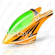 SYMA F3 RC helicopter parts-01 Head cover(Yellow & Green)