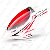 SYMA F3 RC helicopter parts-02 Head cover(White & Red)