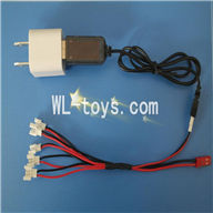 SYMA X4 RC Quadrocopter parts-24 Conversion socket plug & USB & 1-to-5 Cable ((Not include the 5 battery)