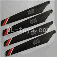 FeiLun FX067 FX067C RC Helicopter parts-03 Main rotor blades(4pcs)-Red