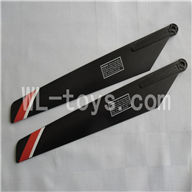 FeiLun FX067 FX067C RC Helicopter parts-04 Main rotor blades(2pcs)-Red