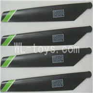 FeiLun FX067 FX067C RC Helicopter parts-08 Main rotor blades(4pcs)-Green