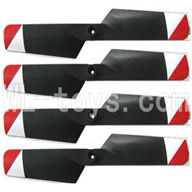 FeiLun FX067 FX067C RC Helicopter parts-11 Tail rotor blades(4pcs)-Red