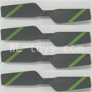 FeiLun FX067 FX067C RC Helicopter parts-12 Tail rotor blades(4pcs)-Green