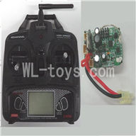 FeiLun FX067 FX067C RC Helicopter parts-31 Transmitter & Circuit board