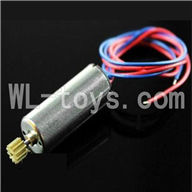 DFD F183 RC Quadcopter Parts-17 rotating Motor with red and Blue wire