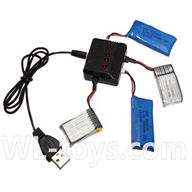 SYMA X2 X2A RC Quadrocopter parts-18 upgrade 1-to-4 charger & balance-charger(Not include the 4 battery)