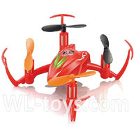 SYMA X2 X2A RC Quadrocopter parts-22 BNF-Red(Only X2 Quadcopter Body,No battery,No charger,No transmitter)