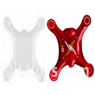SYMA X12 RC Quadrocopter parts-04 Bottom frame & Upper shell cover-Red