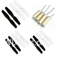 SYMA X12 RC Quadrocopter parts-09 Main rotor blades(12pcs-6x White and 6x Black) & 4X Main motor