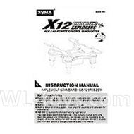 SYMA X12 RC Quadrocopter parts-15 Manual