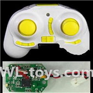UDI U939 RC Quadcopter parts-13 Transmitter-Yellow & Circuit board