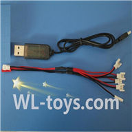 UDI U939 RC Quadcopter parts-29 USB & 1-to-5 Cable (Not include the 5 battery)