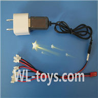 UDI U939 RC Quadcopter parts-30 USB-to-Socket conversion plug & USB & 1-to-5 Cable ((Not include the 5 battery)
