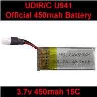 UDI U941 RC Quadcopter parts-16 Official 3.7v 450mah battery