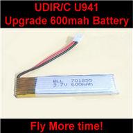 UDI U941 RC Quadcopter parts-17 Upgrade 3.7v 600mah 15c battery