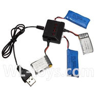 UDI U941 RC Quadcopter parts-35 upgrade 1-to-4 charger & balance-charger(Not include the 4 battery)