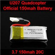 NiHui U107 U207 RC Quadrocopter Parts-06 Official 3.7v 150mah 20C Battery