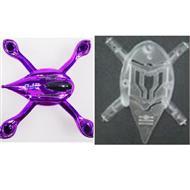 V252-parts-07 Head cover-Upper(Purple) & Lower cover Frame wholesale Wltoys WL V252 Quadcopter parts,V-252 WL toys V252 parts
