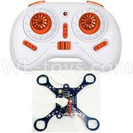 NiHui U107 U207 RC Quadrocopter Parts-11 Transmitter(White) & Circuit baord