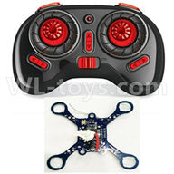 NiHui U107 U207 RC Quadrocopter Parts-12 Transmitter(Black) & Circuit baord