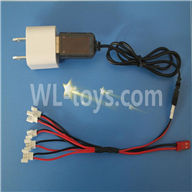 NiHui U107 U207 RC Quadrocopter Parts-24 USB-To-Socket Conversion plug & USB & 1-to-5 Cable (Not include the 5 battery)