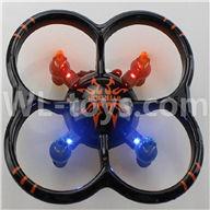 NiHui U107 U207 RC Quadrocopter Parts-25 BNF-Black(Only U207 UFO Quadcopter body,No battery,No charger,No Transmitter )