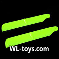 NiHui H377 RC Helicopter Parts-03 upgrade Main rotor blades(2pcs)-Green